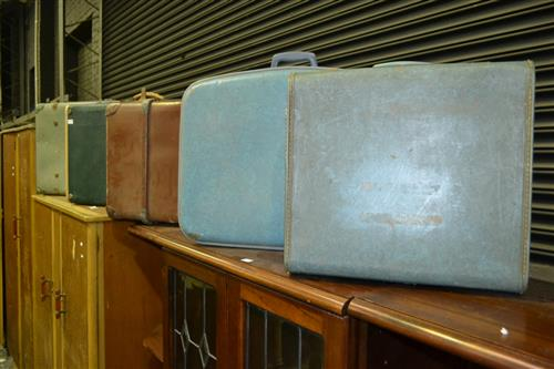Collection of Early Suitcases