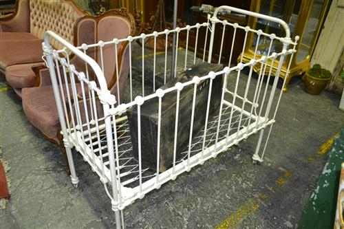 Early Metal Childs Cot