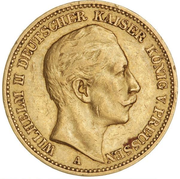 Germany, Prussia, 20 Mark 1890, KM 521, F 3831