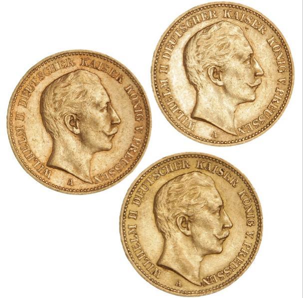 Germany, Prussia, Wilhelm II, 20 Mark 1912 J, KM 521, F 3832