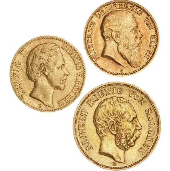 Germany, Saxony, 20 Mark 1874