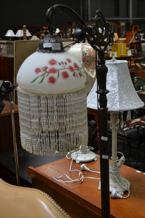 Beaded Shade Standard Lamp