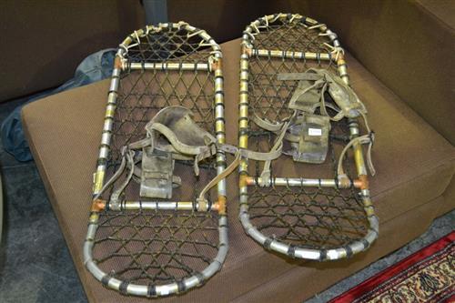 Pair of Vintage Aluminium Snow Shoes