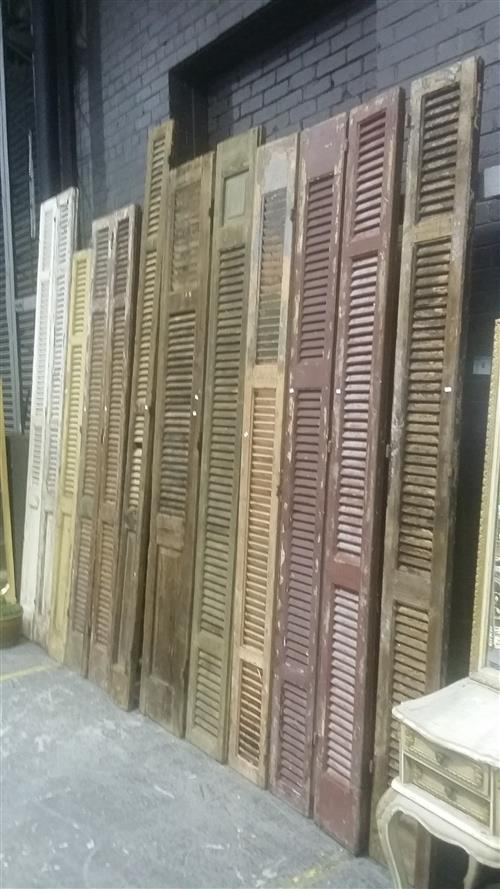 Collection of 12 Tall Timber Shutters