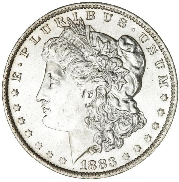 USA, Morgan Dollar 1883 O, New Orleans Mint, KM 110