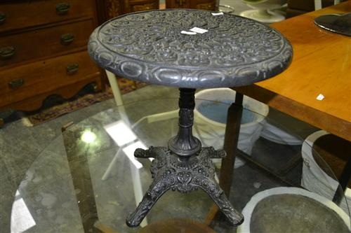 Small Iron Table on Quad Base