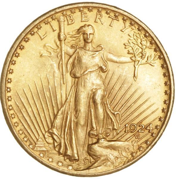 USA, 20 Dollars 1924, KM 131, F 185