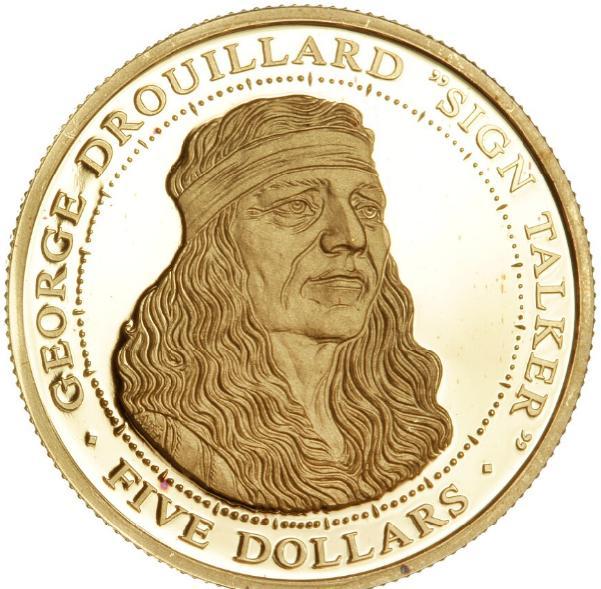 USA, Shawnee Tribe, 5 Dollars 2004, 6.2 g .9999