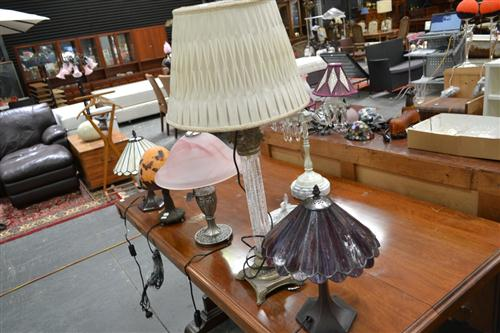 Six Varied Table Lamps