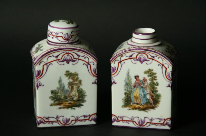 A PAIR OF FRENCH TEA CANISTERS