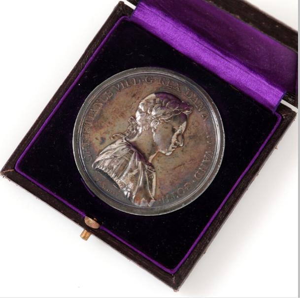 Christian VII, The Scientific Society's Price Medal 1768