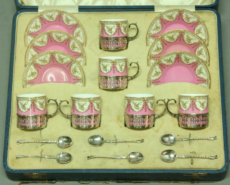 A ROYAL WORCESTER COFFEE SET