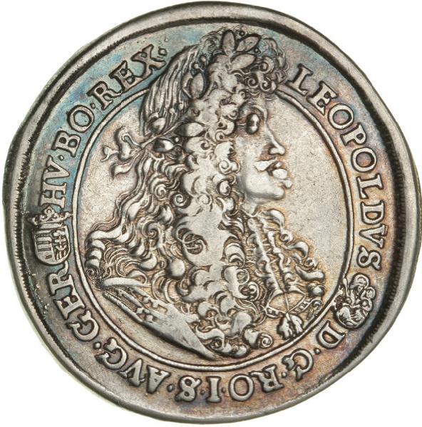 Austria, Leopold I, Thaler 1691, Kremnitz, Dav. 3261, KM 214.2