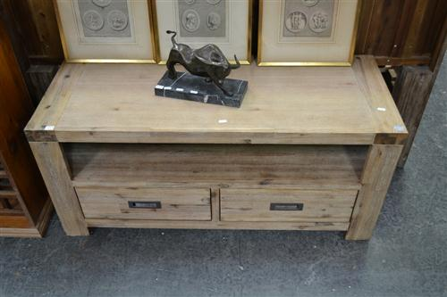 Timber 2 Drawer Entertainment Cabinet
