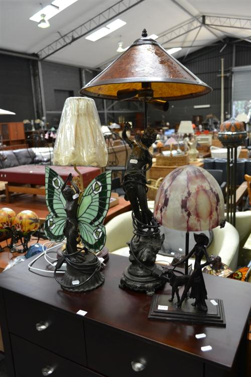 Four Figural Table Lamps