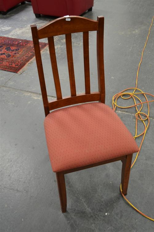 Set of 4 Slat Back Dining Chairs