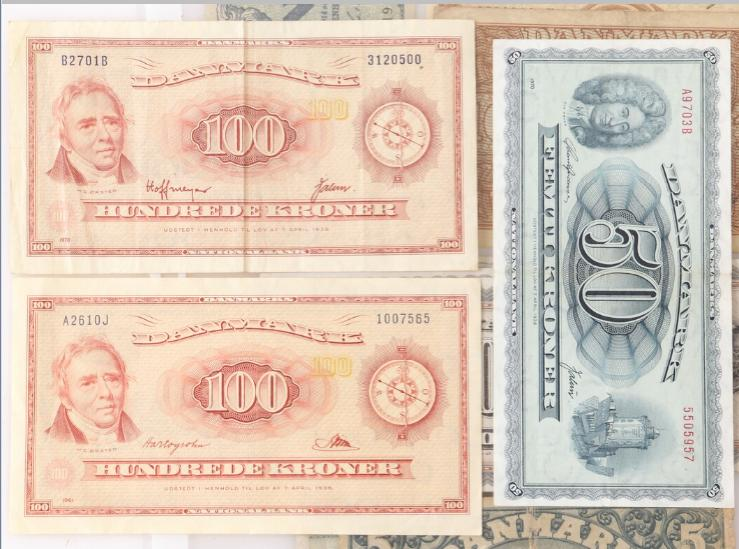Coll. notes incl. 100 kr 1961 A2 0J