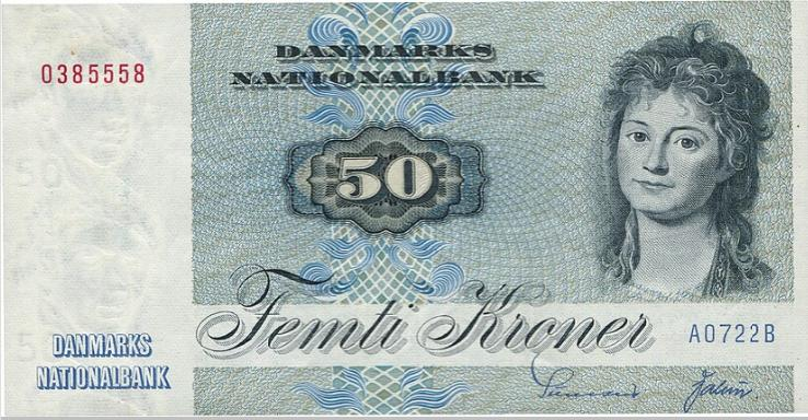 50 kr 1972 AO, Sunesen / Valeur, Sieg 141, Pick 50