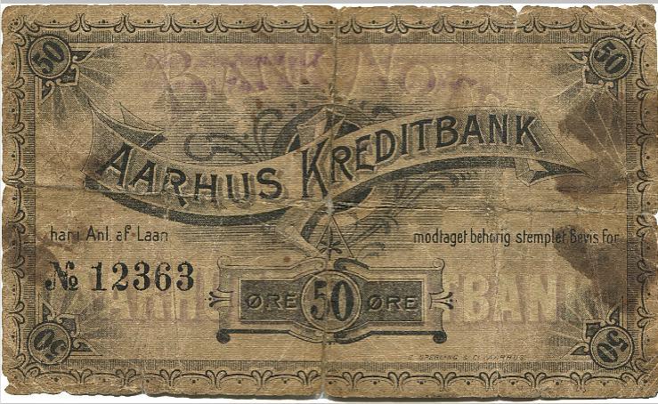Aarhus Kreditbank, 50 øre ND, No. 12363