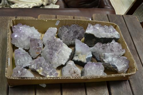 Box of Amethyst Crystal