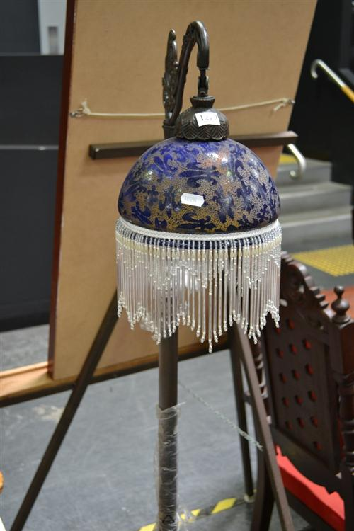 Beaded Glass Shade Standard Lamp