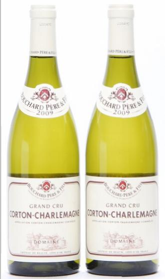 2 bts. Corton Charlemagne Grand Cru, Domaines de Chateau de Beaune 2009 A (hf/in).