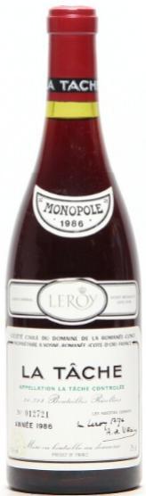 1 bt. La Tache Grand Cru, Domaine de la Romanée Conti 1986 A (hf/in)