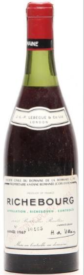 1 bt. Richebourg Grand Cru, Domaine de la Romanée Conti 1967 B (ts/us)