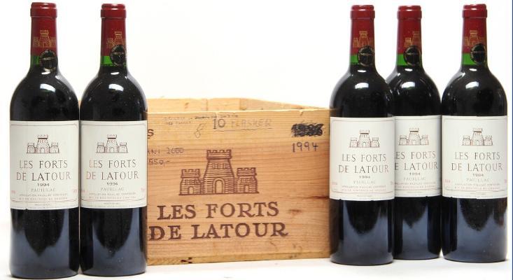 10 bts. Les Forts De Latour, Chateau Latour, Pauillac 1994 A (hf/in)