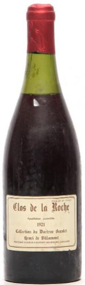 1 bt. Clos de la Roche Grand Cru, Collection du Docteur Barolet Henri de Villamont 1921 B/C (us).