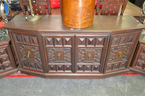 Sideboard w Heavily Carved Panel Doors