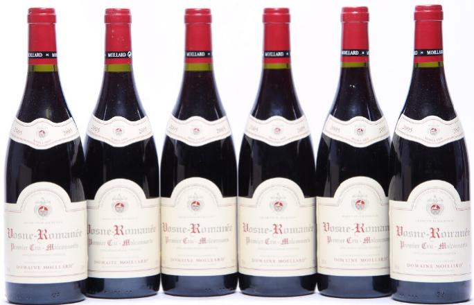 """6 bts. Vosne-Romanée 1. Cru """"Malconsorts"""", Domaine Moillard 2005 A (hf/in)"""