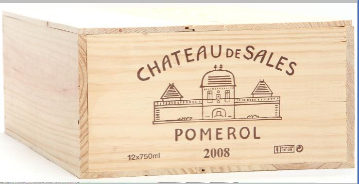 12 bts. Château De Sales, Pomerol 2008 A (hf/in). Owc.