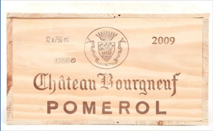 12 bts. Château Bourgneuf, Pomerol 2009 A (hf/in). Owc.