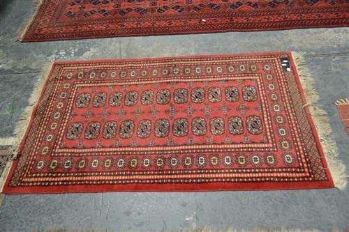 Red Tone Floor Rug