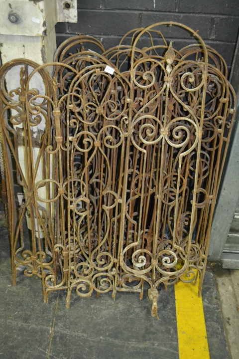 Collection of Arc Top Iron Window Panels