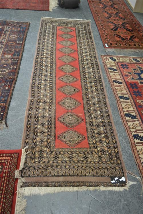 Red and Grey Tone Floor Runner