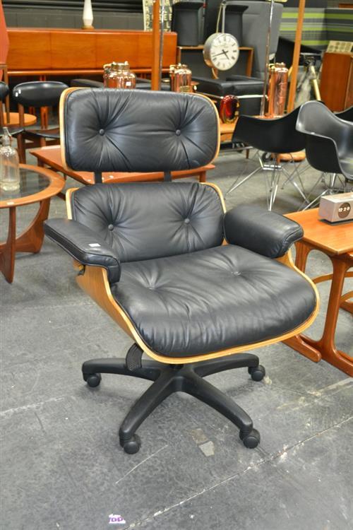 Herman Miller Eames 670 Armchair with Non Original Base