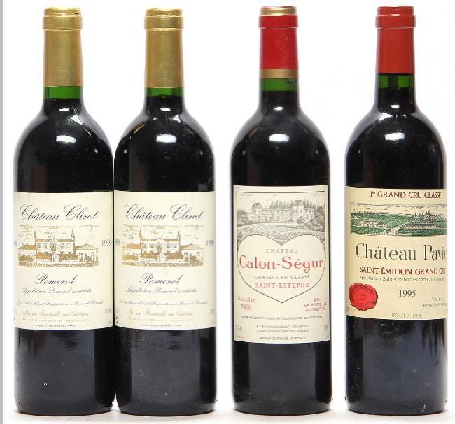 2 bts. Château Clinet, Pomerol 1998 A (hf/in). etc. Total 4 bts