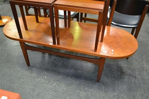 Quality G Plan Oval Teak coffee table