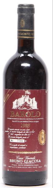 """1 bt. Barolo Riserva """"Falletto di Serralunga d'Alba"""", Bruno Giacosa 1989 A-A/B (bn)."""