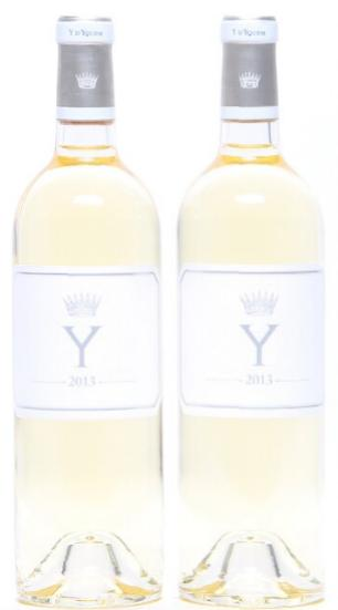 """2 bts. """"Y"""" de Chateau d' Yquem 2013 A (hf/in)."""