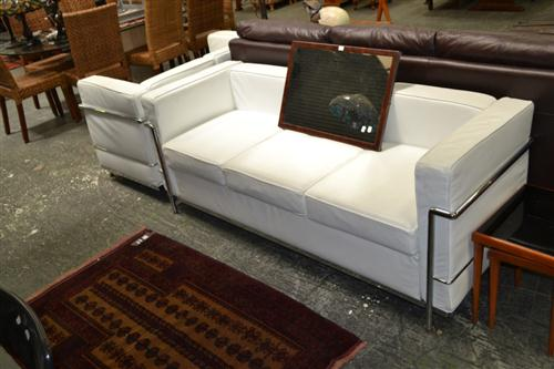 Le Corbusier Style Lounge Setting incl. 3 Seater & 2 Seater