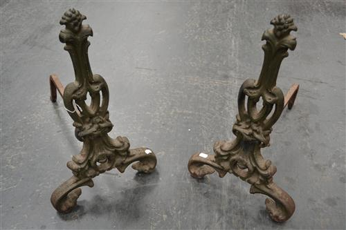 Pair of Iron Fire Dogs