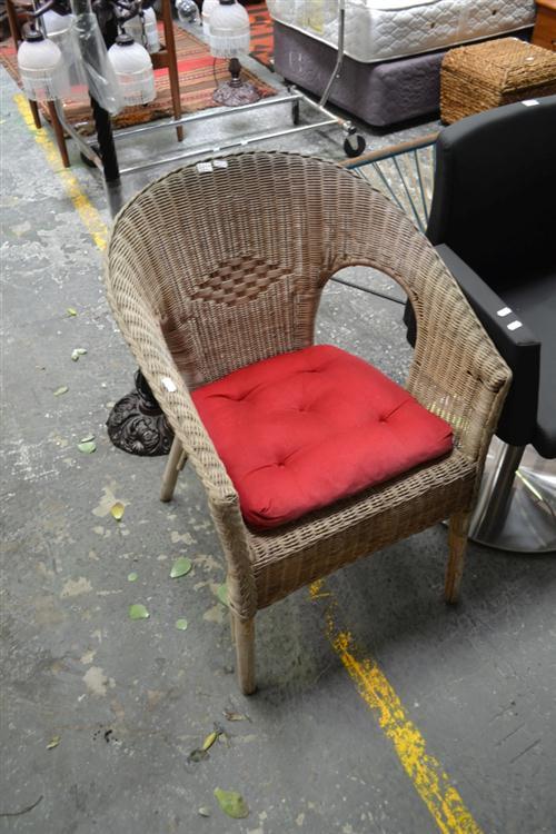 Pair of Cane Tub Chairs (Cane Worn)