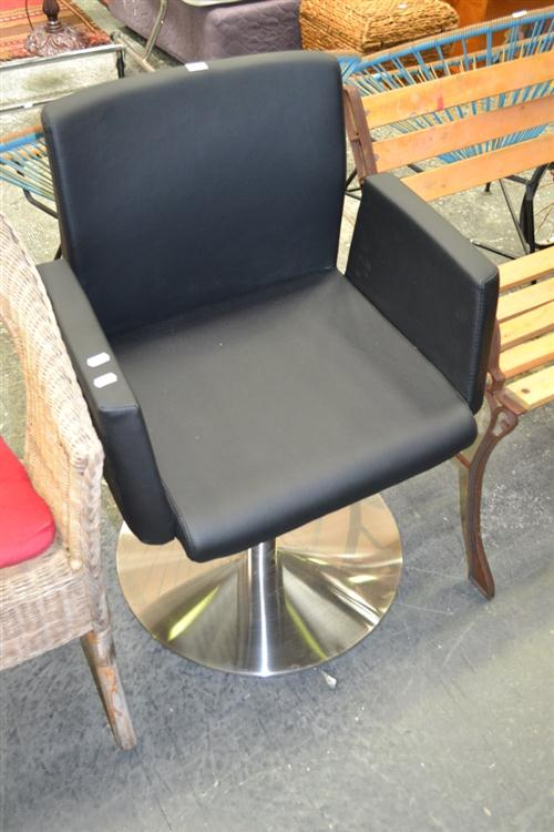 Pair Of Chrome Base Reception Chairs