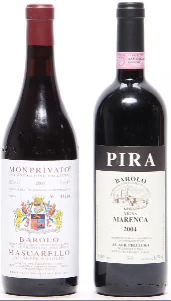 1 bt. Barolo Monprivato, Mascarello 2004 A (hf/in). etc. Total 2 bts