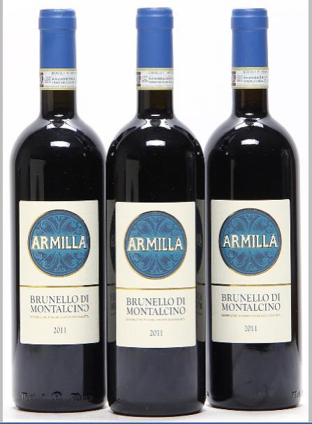 12 bts. Brunello di Montalcino, Armilla 2011 A (hf/in). Oc.