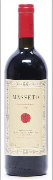 1 bt. Masseto, Tenuta dell'Ornellaia, Toscana IGT 1987 A-A/B (bn)