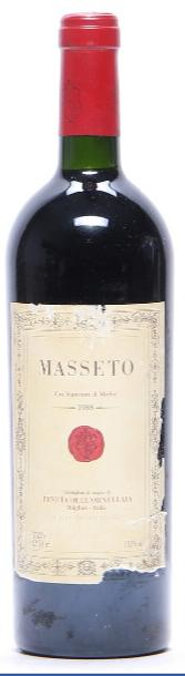 1 bt. Masseto, Tenuta dell'Ornellaia, Toscana IGT 1988 A-A/B (bn)